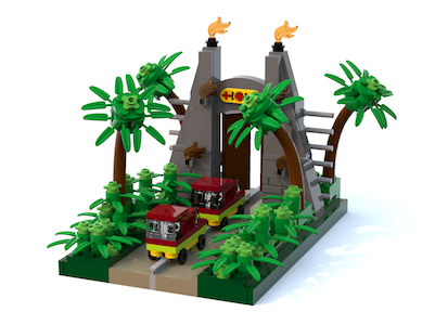 Mini Jurassic Park Gate v2 cropped 300Tall
