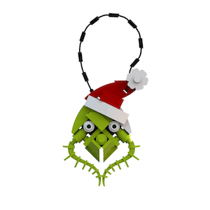 Grinch Head OrnamentV2 cropped 300Tall