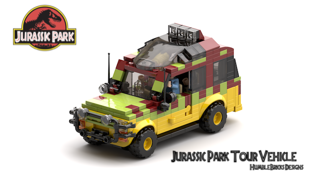 Jurassic Park Ford Explorer Tour Vehicle v2d with passangers_Render1 cropped 640W