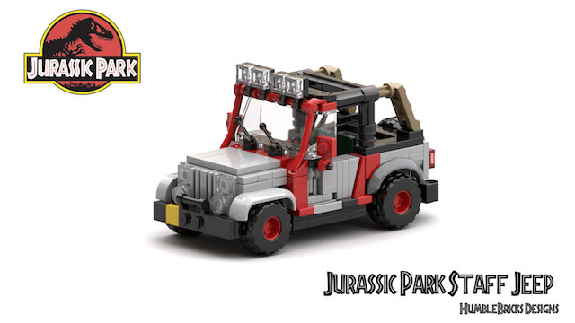 Jurassic Park Staff Vehicle Jeep Wrangler v5.3_StudioRender with text 640w